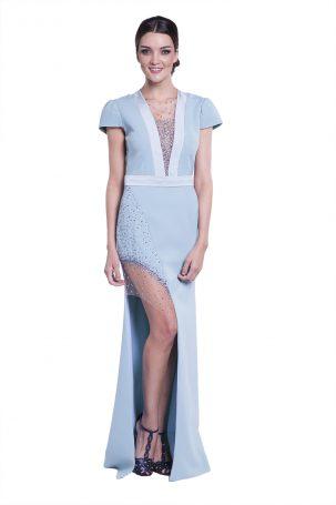 Vestido Dijon Azul