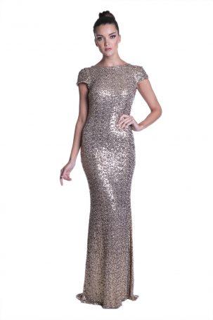 Vestido Leila Dourado