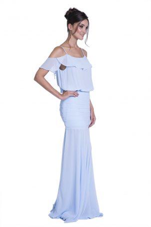 Vestido Malva Azul