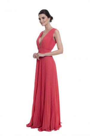 Vestido Giovana Coral