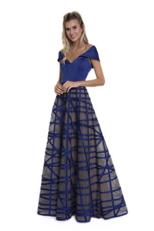 Vestido Tharsilla Azul