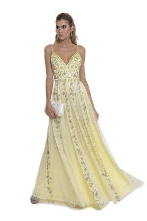Vestido Flora Amarelo