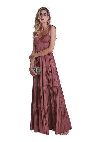 Vestido Marie Terracota